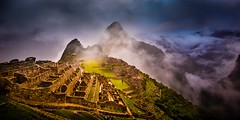"""Breaking Sun on the Lost City""  Machu Picchu, Peru (Dan Ballard Photography) Tags: city light peru fog america sunrise lost photography photo gallery south images best professional pro machupicchu"