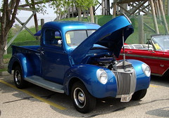 Blue Ford Pickup Truck. (dccradio) Tags: old travel blue vacation classic ford tourism festival wisconsin truck vintage antique pickup pickuptruck oldtruck wi wisconsindells carshow classictruck vintagetruck communityevent lakedelton automotion antiquetruck