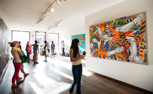 Zio Ziegler Exhibition - Gallery Walk - Photo Credit Gus Gusciora