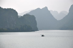No Fear of the Dragons (The Spirit of the World (Away)) Tags: fog islands southeastasia day dragon vietnam rowboat soe islet myth halongbay oars descending foggyday legendofthedragon descendingdragon blinkagain cedruseternum rememberthatmomentlevel1 rememberthatmomentlevel2 rememberthatmomentlevel3 vietnamesemyths limestonepilllars