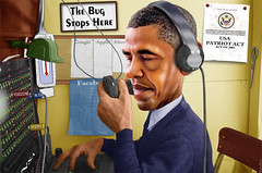 The Bug Stops Here (DonkeyHotey) Tags: illustration photomanipulation photo phone surveillance president political politics manipulation politician spying commentary verison barackobama nsa politicalcommentary wiretapping 4thammendment donkeyhotey