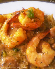 Shrimp touff at Niecys in Upper Marlboro (HTRM2) Tags: china red orange white green apple yellow pepper rice neworleans plate shrimp onions delicious butter seafood spicy shallots scallions paprika etouffe creole picante iphone decadent hearty entree maincourse iphone4 touff htrmiller2