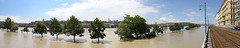 Budapest flood 2013 - panorama 4 (Romeodesign) Tags: trees panorama church water june river high hungary flood budapest under wide tracks tram matthias wharf rails duna fluss danube buda donau hochwasser berschwemmung rakpart 2013 effuse 550d rvz