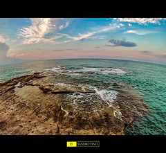 Landscape in GoPro Style (Sandro Vinci) Tags: blue sunset sea italy cloud sun white verde green love water clouds photoshop