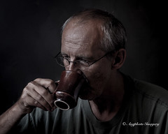 Self Drinking Early Coffee (augphoto) Tags: portrait people selfportrait man self person selfie mikeme augphotoimagery