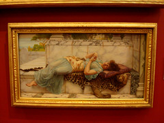 The Betrothed - Guildhall Art Gallery (a_marga) Tags: uk inglaterra london art painting arte unitedkingdom londres cuadro johnwilliamgodward guildhallartgallery thebetrothed