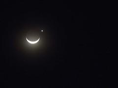 Anoitecer de 08 de Setembro de 2013 em Ivaipor no Paran (Lua e Venus) (Mauricio Portelinha) Tags: lua moonandstar luaeestrela moonandvenus ivaipor luaevenus luacomvenus luavenus