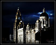 Classic Pier Head, Liverpool (ronramstew) Tags: uk light england liverpool buildings olympus threegraces 1001nights pierhead merseyside liverbuilding portofliverpoolbuilding cunardbuilding epl1 mygearandme mygearandmepremium