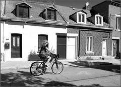 pam on bixi bw (tesseract33) Tags: world travel blackandwhite art monochrome montreal bikes nikondigital cruisers nikond300 tesseract33 pamlang peerlangphotography