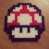 Mushroom (Robozippy) Tags: mushroom beads nintendo sprite mario videogames pixelart perler perlerbeads geekcraft flickrandroidapp:filter=none geekcrafting