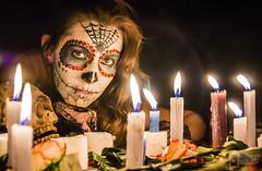 Catrinas (CronicasVicino) Tags: bridge halloween digital de dead mexico death candles day post traditions dia spooky mexican muertos production catrina catrinas tradiciones