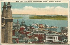 Canadá - View from Notre Dame, looking down the St. Lawrence, Montreal (tico_manudo) Tags: montreal canada notredame vintagepostcards tarjetasantiguas tarjetaspostalesvintage