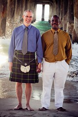 KiltMan and Partner Beach8 (KiltManinSoCal) Tags: gay love beach kilt