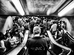 People. Lots of them... (Diego3336) Tags: cameraphone brazil people urban bw latinamerica southamerica station brasil stairs train subway concrete stair saopaulo metro crowd escalator platform pb sp staircase escalators crowded estação anhangabau lotado linhavermelha overcrowded metrosp overcrowd linha3 lumia920