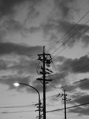 IMGP1734 (ICHIGO Kouhei) Tags: cloud monochrome japan landscape pentax cable  q10 pentaxq10