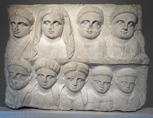 Macedonia. funerary relief depicting members of a family, early 2nd c CE, roman period
