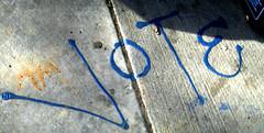VOTE (Emptiness Of Light) Tags: street art graffiti colorado tag rip ground drip co vote durango 2007 1810