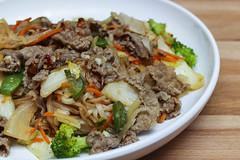 Vietnamese Stir Fry Rice Noodles (sheryip) Tags: food kitchen fry vietnamese pittsburgh yum rice noodles stir trams
