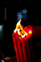 Passing down the torch, Keep the fire going (Hsin Ju HSU) Tags: street color childhood fun temple fire photography kid pray culture taiwan fortune wishes discover