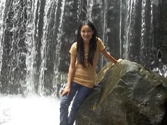 Rungrudee (Asian.Amour2) Tags: woman cute sexy girl beautiful smile river asian thailand happy waterfall asia pretty sweet gorgeous cutie jeans thai brunette oriental siam nongbualumphu