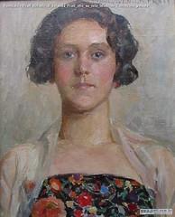 Romualdo Prati Ritratto di Iolanda Prati olio su tela 50x40cm Collezione privata
