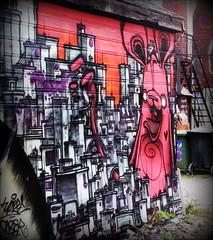 Poser City (Sue, Toronto) Tags: pink toronto bunny graffiti poser escape kensington