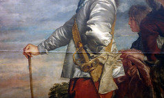 van Dyck, Charles I at the Hunt, detail with elbow