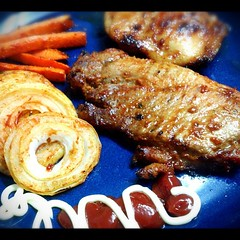 เมนูแรกของปี สเต็กหมู&ไก่ BBQ #BBQ #ทำอาหาร #ทำเองกะมือ #lucreisia_cooking