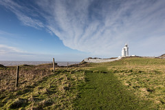 St Catherine's lighthouse - IMG_8274 (s0ulsurfing) Tags: winter england sky cloud lighthouse green english history nature grass weather clouds composition rural canon landscape island scenery lighthouses skies natural britain patterns wide perspective january wideangle cliffs isleofwight british isle nube wight meteorology nephology 6d 2014 sigma1224 stcatherinespoint niton s0ulsurfing stcatherineslighthouse
