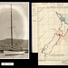 Photograph of 'Argo' and map of search area after Centennial yacht race, 1951