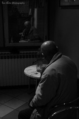 the old man (Teo Dots) Tags: old man me canon eos rebel mirror cafe chair watching drinking sit cooffe t1i