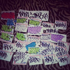 BRIBE TABKREW! (=BLEK=) Tags: tag stickers usps trade bombing tab bribe trades krew slaps tabkrew