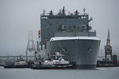 USS Amelia Earhart at Pier 70 2-2014 (daver6sf@yahoo.com) Tags: revolution sanfranciscobay bae tugs drydock portofsanfrancisco pier70 afvrzoomnikkor80400mmf4556ded amnav sandrahugh deltalindsey ussameliaearhart