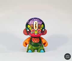 Cell Munny (WuzOne) Tags: show colors painting toy gallery geek handmade vinyl cell kidrobot artshow collectible custom acrylics dunny munny artoy wuzone