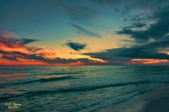 Tuesday Sunset (Dave Reasons) Tags: ocean sunset sea beach gulfofmexico water clouds evening sand waves gulfcoast geocity camera:make=canon exif:make=canon camera:model=canoneos5dmarkii geostate geocountrys exif:model=canoneos5dmarkii exif:lens=ef24105mmf4lisusm exif:focallength=24mm exif:aperture=ƒ40 exif:isospeed=400 geo:lon=86592244444445 geo:lat=30393486111112