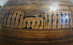 Frieze (close), Dipylon Amphora, c. 755-750 B.C.E.
