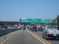 Northbound IH 5 at exit for California State Highway 55 North (FreewayDan) Tags: road losangeles highway freeway southerncalifornia orangecounty southland interstate5