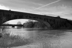 seven bore (benbrooks1111) Tags: bridge blue sky people man fence river reeds bridges bank gloucestershire seven gloucester stance bore sevenbore