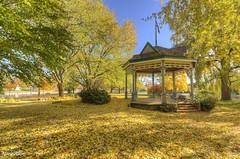 Victoria Park Gazebo 2 (mrkakn) Tags: park autumn fall leaves sony kitchener victoria gazebo waterloo region hdr ontarioyourstodiscover kitchenerwaterloo a55