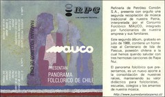 Segundo cassete grabado por el Conjunto Folclórico Maucó de la Refinería de Petróleo de Concón S.A. en 1988
