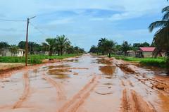 Flooded sand roads (jbdodane) Tags: africa rain bicycle cycling sand published dirtroad roads velo flooded angola cyclotourisme cycletouring day459 alamy zaireprovince freewheelycom alamy150731