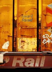 Rail Mutants (jpmatth) Tags: color car digital yard train portraits canon eos graffiti lenstagged illinois rail mk2 5d boxcar mutants taylorville 2014 ef85mm18 nextload buddypaulsen