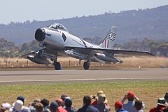 Sabre take-off (joolsgriff) Tags: australia airshow sabre avon commonwealth raaf avalon f86 northamerican a94983 vhipn