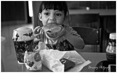 Pure Satisfaction (mbenav13) Tags: borderfx burger blackandwhite food mcdonalds happymeal child children love eating