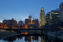 Omaha skyline (keithjsemmelink) Tags: omaha nebraska skyline blue hour