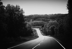 Journey Road~ (K.Chris ~AlwaYs LeaRning~) Tags: rural countryroad highway blackandwhite monochrome landscape