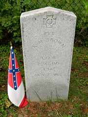 Confederate Row: Private Richard M. Brown, Co. B 2nd North Carolina Infantry (Photo Squirrel) Tags: confederate confederaterow cemetery grave gravestone gravemarker graveyard tombstone headstone memorial monument epitaph mtolivetcemetery frederickcountymd frederick maryland civilwar 1862