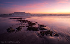 Pink and Wide (Panorama Paul) Tags: paulbruinsphotography wwwpaulbruinscoza southafrica westerncape capetown tablemountain blaauwbergbeach waves rocks beach sunset nikond800 nikkorlenses nikfilters