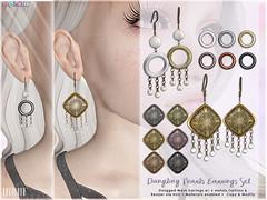 [ bubble ] Dangling Pearls Earrings Set (::: insanya ::: & [ bubble ]) Tags: secondlife bubble originalmesh accessories earrings mesh hud metals pearls lostandfound exclusive
