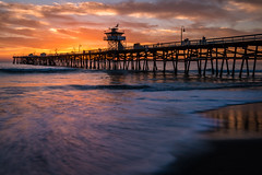 My Sunset Boulevard (mark5photographic) Tags: sea seascapes sunset seascape seashore sun ocean orange coast outdoor water waves california clouds beach
